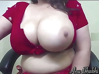 Indian wife in red saree milking her tits on cam webcam amateur indian